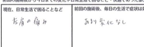 広島-四十肩・五十肩の治療で治ると有名な整体院の実例12