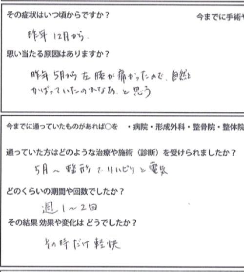 広島-四十肩・五十肩の治療で治ると有名な整体院の実例8