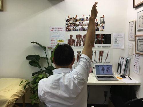 肩が上に上がらない、腕が回らない四十肩・五十肩等の肩の痛みの治療3