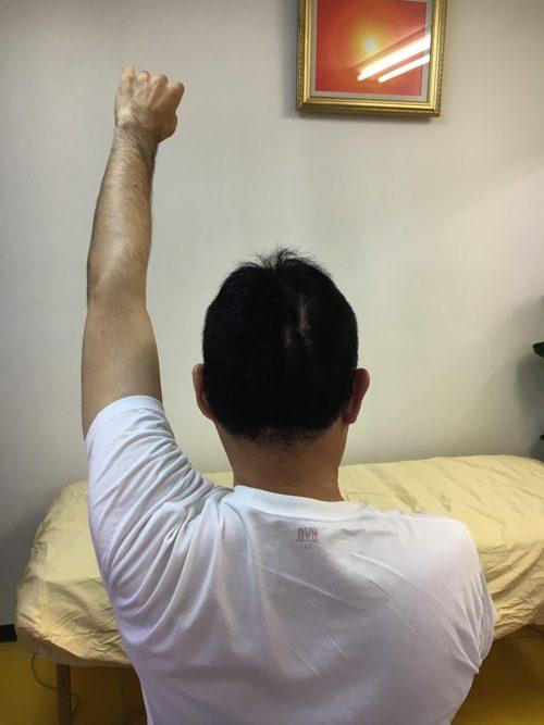 肩が上に上がらない、腕が回らない四十肩・五十肩等の肩の痛みの治療6